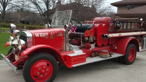 Historic fire engine returned to West Allis Fire Department