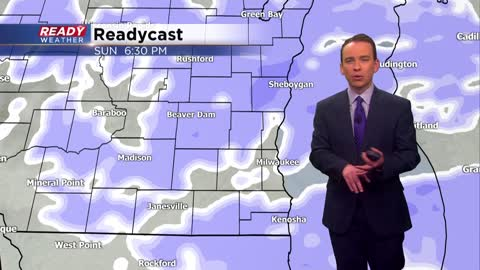 Sunday Night Update: Light snow ends, eyes turn towards heavy snow Monday night