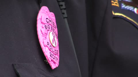 Big Bend police adopt new badge style for month of October