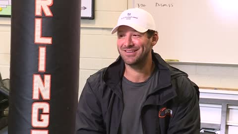 Tony Romo reflects on Burlington roots and decision to leave football for broadcast booth