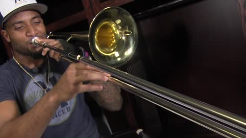 Brewers' outfielder Domingo Santana explores musical passion through trombone