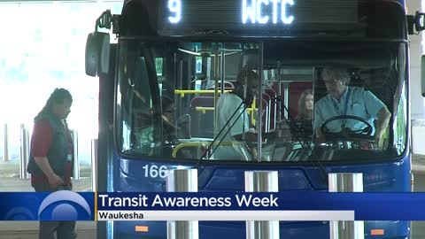 Waukesha bus riders treated to donuts to mark Transit Awareness Week