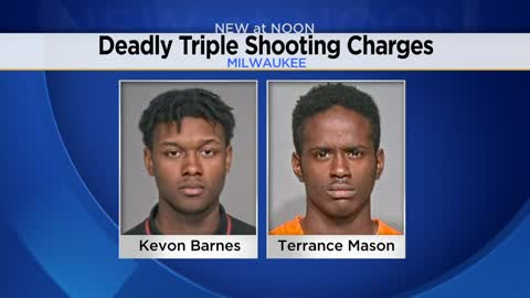 Two charged after triple shooting leaves two dead
