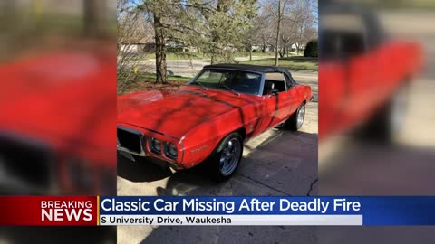 Death in Waukesha house fire ruled suspicious, classic car reported stolen from home