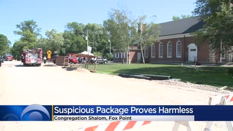 Suspicious package at Congregation Shalom in Fox Point turns...