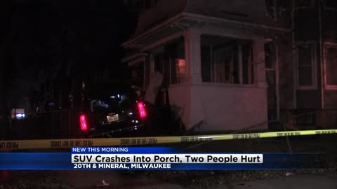 SUV crashes into home near 20th and Mineral, two taken to the hospital