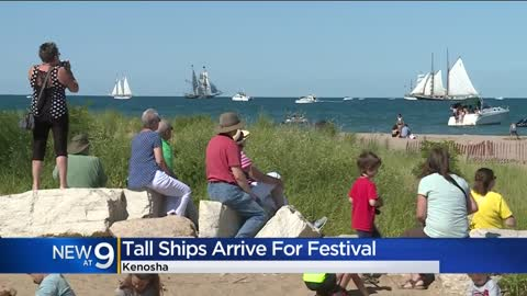 Tall ships sail into Kenosha for festival