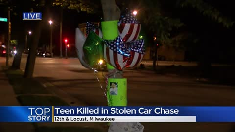 Vigil held for 19-year-old man killed after stolen vehicle runs red light
