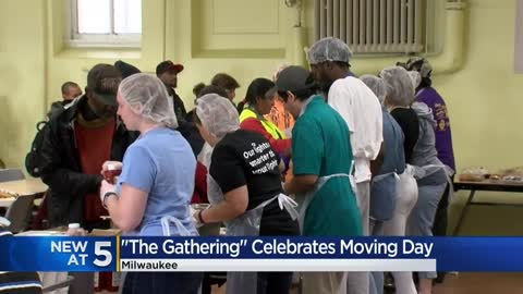"""This has been home for two years:"" The Gathering celebrates moving day with parking lot cookout"