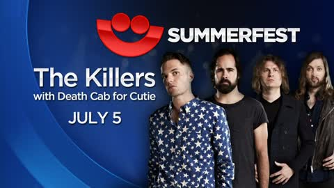 The Killers to headline Summerfest July 5 with special guest Death Cab for Cutie