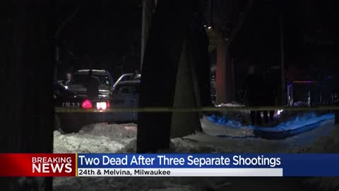 Milwaukee Police investigating three shootings, 2 dead