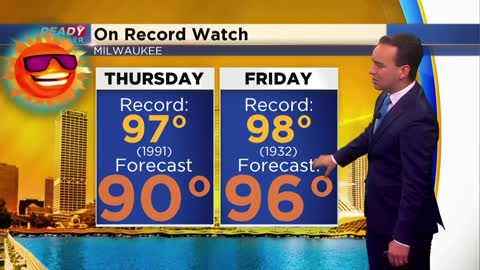 Warmest temperatures in seven years arrives Friday; Strong storms...