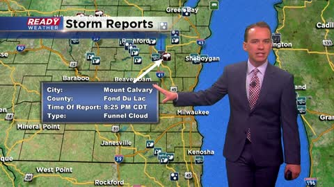 Funnel cloud, wind damage and soaking rain highlight Wednesday storms