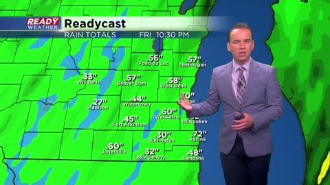 Soaking rain arrives Thursday evening with a flurry possible this weekend