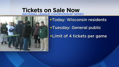 NLCS tickets on sale for Brewers season ticket holders
