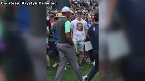 Tiger Woods reacts to New Berlin native's t-shirt in viral...