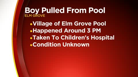 3-year-old boy pulled from Elm Grove public pool, police say