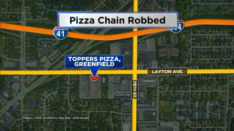Toppers Pizza near 81st and Layton robbed at gun point