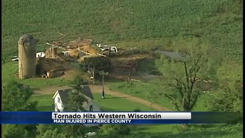 1 person injured in Wisconsin tornado