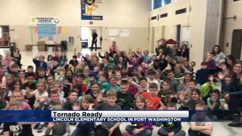 Tornado Ready at Lincoln Elementary in Port Washington