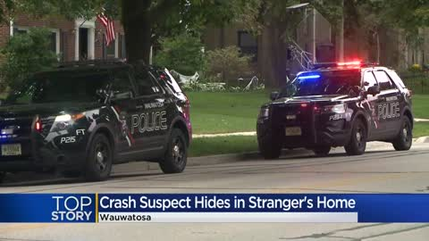Man enters Wauwatosa home after running from car accident, suspect...