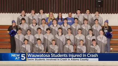 Crash with semi truck injures 7 Wauwatosa West High School swim team seniors