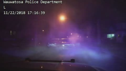 Wauwatosa Police release video of Thanksgiving chase and crash, still looking for driver