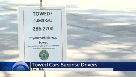 More than 70 vehicles towed, relocated on East Side for run/walk