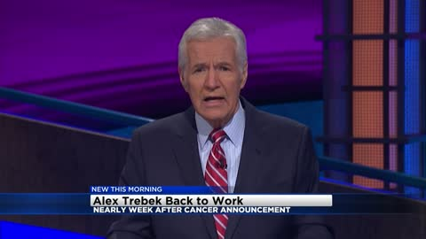 Alex Trebek resumes taping 'Jeopardy!' shows after cancer announcement