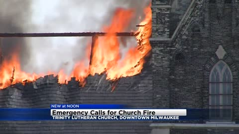 Emergency calls for Trinity church fire released