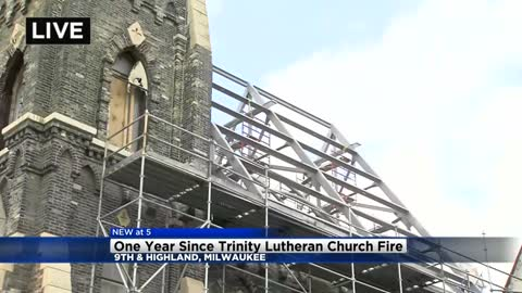 Wednesday marks one year since the Trinity Lutheran Evangelical Fire