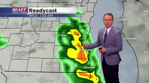Showers return to the forecast Tuesday, especially at night