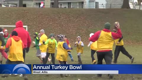 Family, friends collect food for Hunger Task Force at annual 'Turkey Bowl'