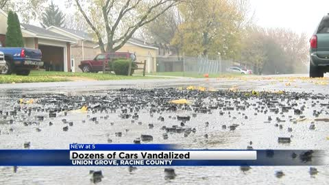 """I hope they catch whoever did it:"" 32 cars vandalized in Union Grove"