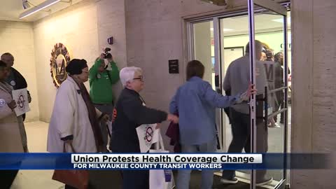 Union protests health coverage change for Milwaukee Co. transit...