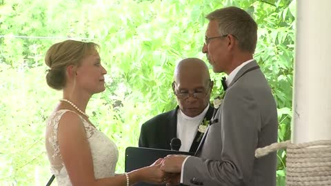 Love blooms during wedding in community garden