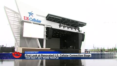 Summerfest unveils renovated U.S. Cellular Connection Stage