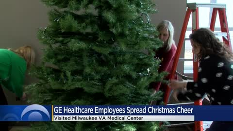 GE Healthcare employees spread Christmas cheer at VA Medical...