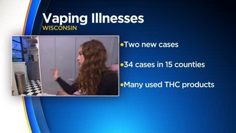 Wisconsin DHS: 34 cases of severe lung disease connected to vaping reported, up from last week
