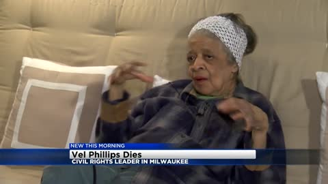 Milwaukee civil rights leader Vel Phillips passes away