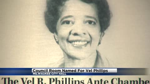 Council Room at Milwaukee City Hall named for Vel Phillips