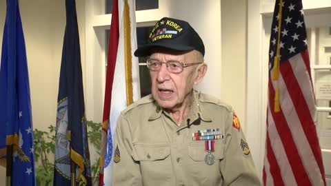 92-year-old Korean War veteran honored