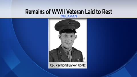 Remains of marine killed in World War II laid to rest in Delavan