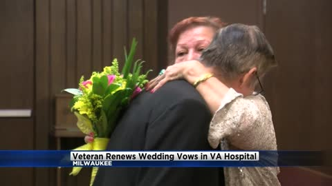 After being hospitalized unexpectedly, Vietnam veteran renews vows with wife at Milwaukee Va Medical Center