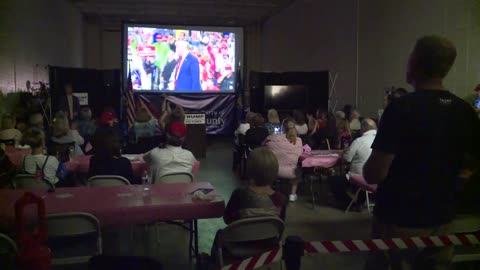 Supporters in Waukesha celebrate President Trump's reelection...