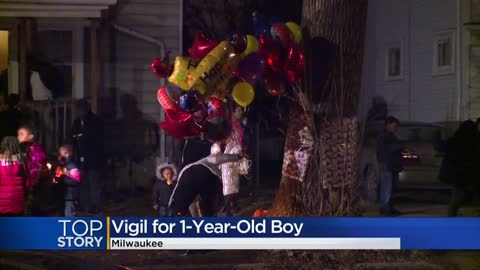 Community holds vigil for 1-year-old found dead on New Year's Day