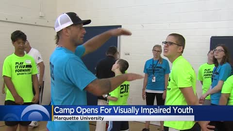 Vision-impaired athletes attend sports camp on Marquette campus