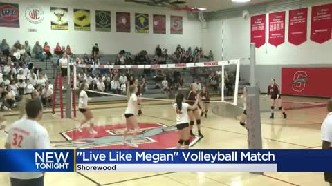 Shorewood High School volleyball game pays tribute to teen killed in car accident