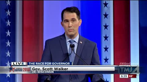 Wisconsin Gov. Walker, challenger Evers hold final debate