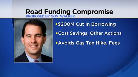 Governor Walker proposes lowering bonding for roads by $200 million